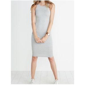 Marine Layer Bodycon Midi Dress Gray L